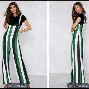 NWOT Striped Wide Leg Jumpsuit
